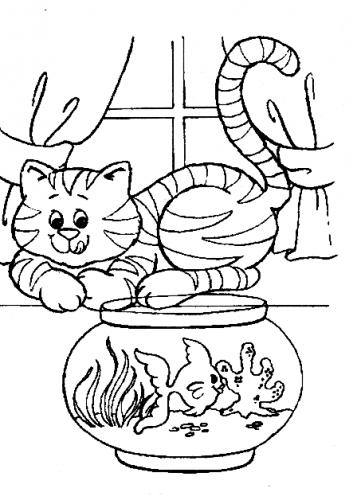 disegno gatto per bambini