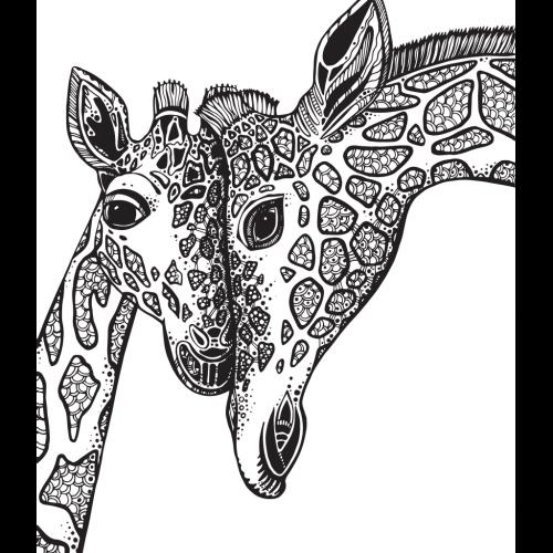 disegno giraffa da colorare pdf