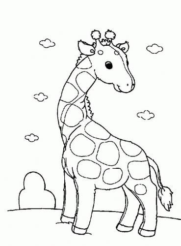 disegno giraffa per bambini pdf gratis