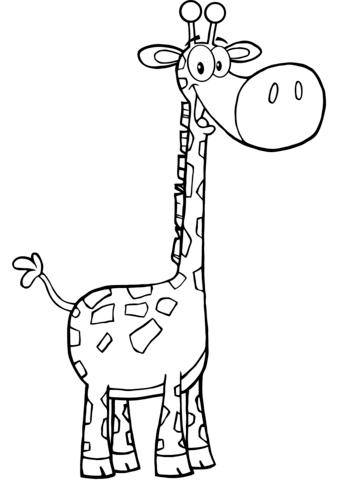 disegno giraffa per bambini