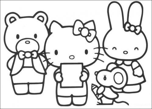 disegno hello kitty da colorare