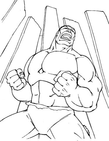 disegno hulk da colorare