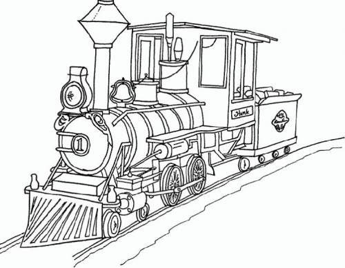 disegno locomotiva bambini