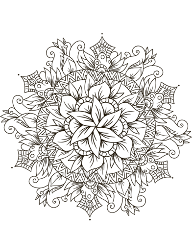 disegno mandala da colorare