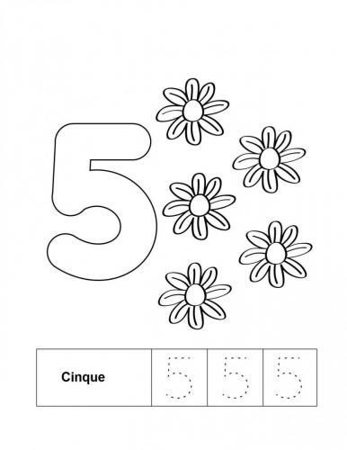 disegno numeri 5