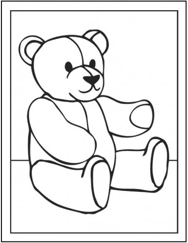 disegno orso per bambini