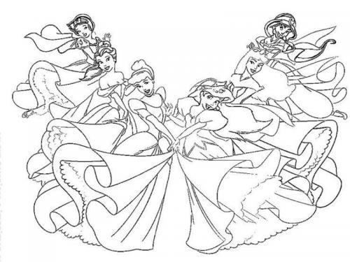 disegno principesse