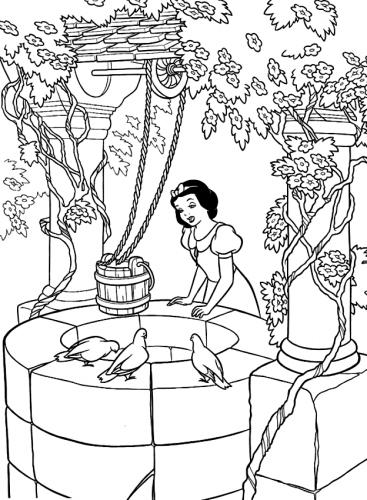 Biancaneve al pozzo