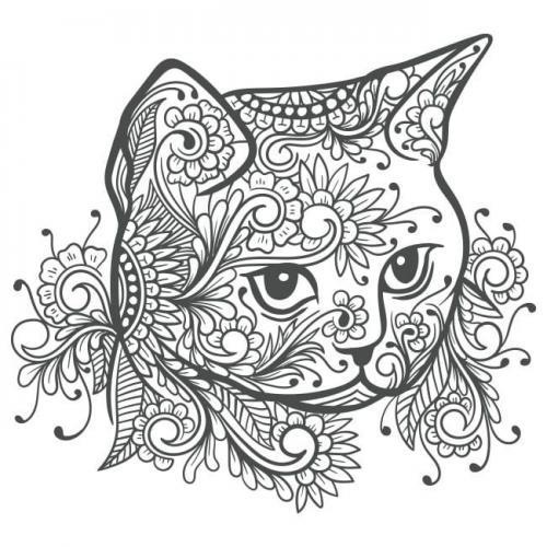 disegno stilizzato gatto