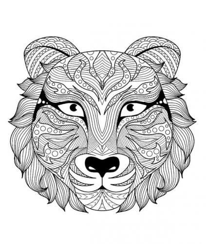 disegno tigre mandala