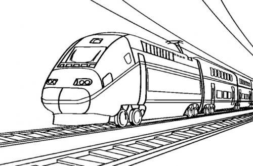 disegno treno