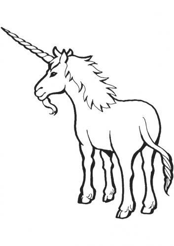 disegno unicorno da colorare