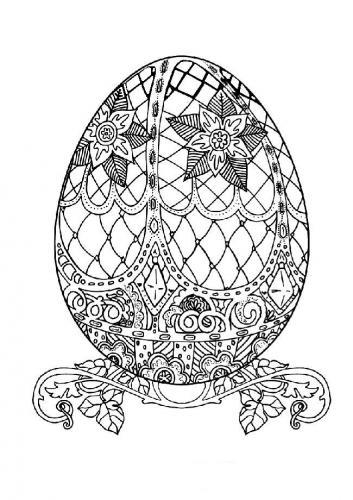 disegno uova di pasqua da colorare