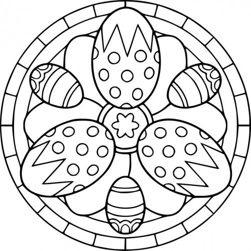disegno uovo di pasqua