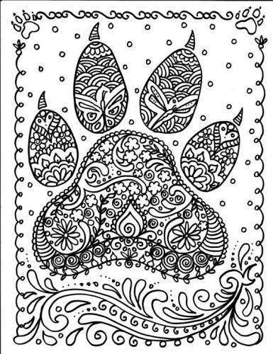 disegno zampa cane