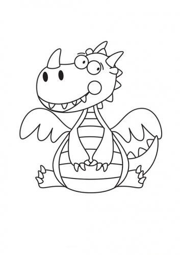 draghi disegni per bambini
