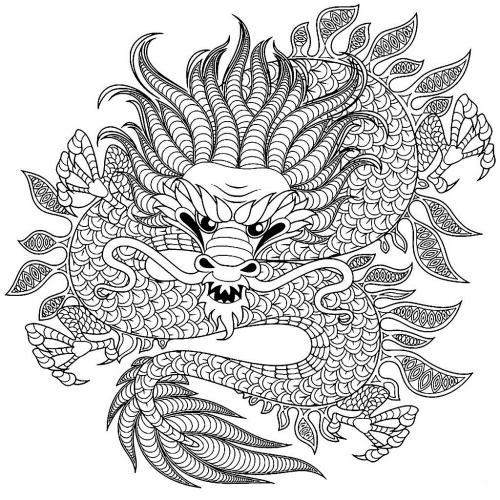 draghi immagini da colorare