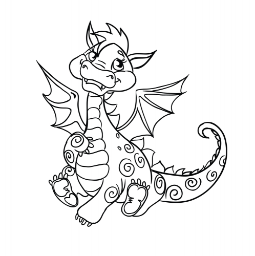 drago disegno bambini