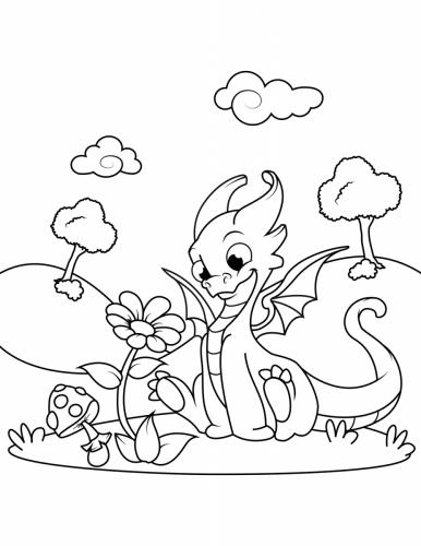drago facile da disegnare