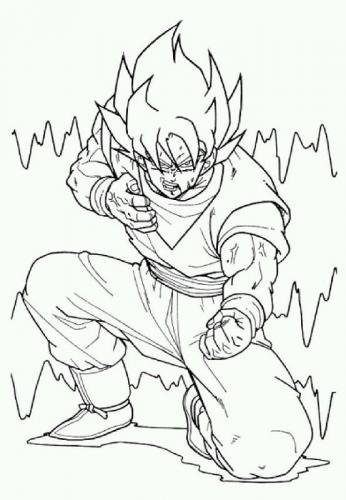 Dragon Ball da colorare Goku