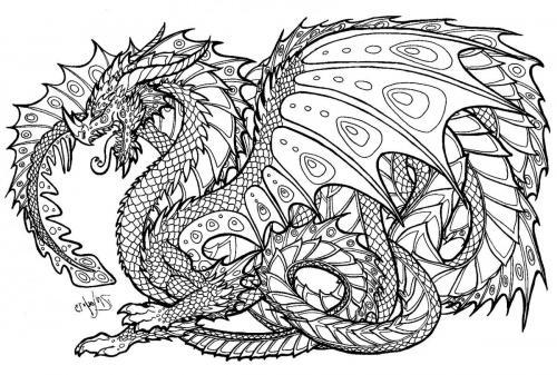 dragone da colorare