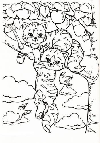 due gatti sull'albero
