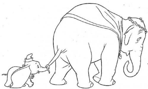 Dumbo con mamma