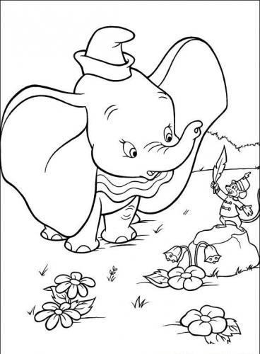 Dumbo disegni da colorare