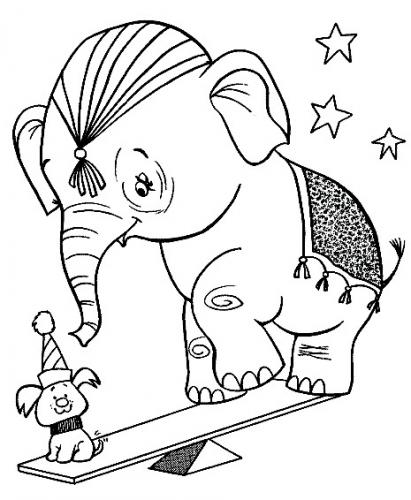 elefante immagini da colorare