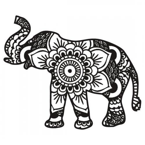 elefante indiano stilizzato
