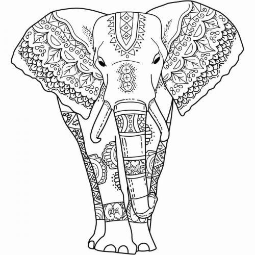 elefante stilizzato da colorare