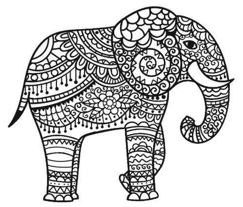 elefante stilizzato da scaricare