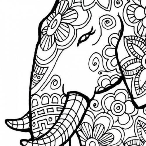 elefante stilizzato di profilo