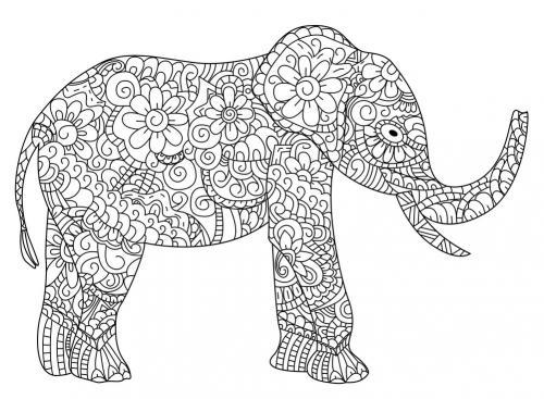 elefante stilizzato disegno