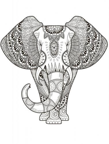 elefante stilizzato gratis