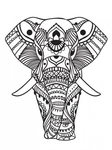 elefante stilizzato pdf adulti