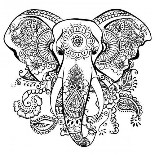 elefante stilizzato per adulti