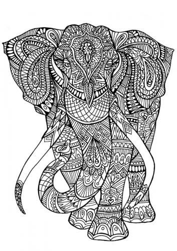 elefante stilizzato realistico