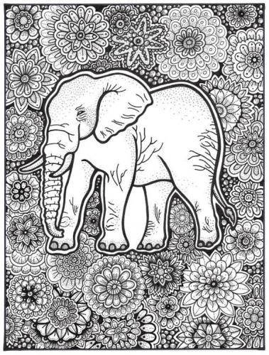 elefante stilizzato sfondo