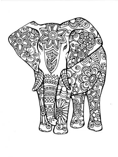 elefante stilizzato