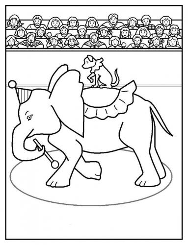 elefantino da colorare