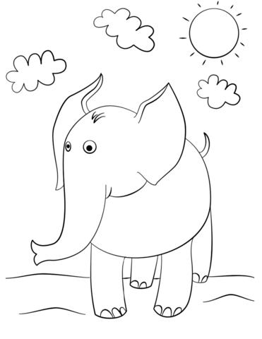 elefantino disegno