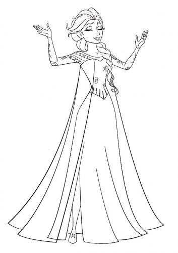 Elsa da disegnare e colorare