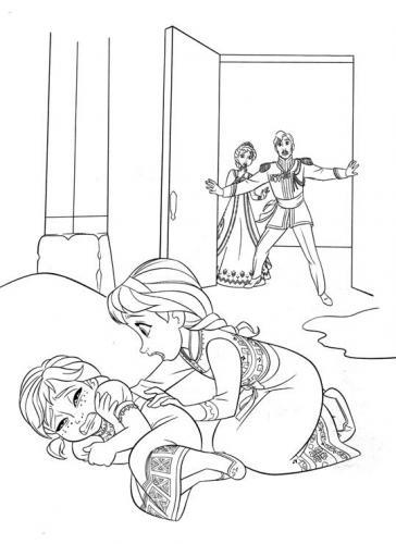 Anna viene colpita da Elsa