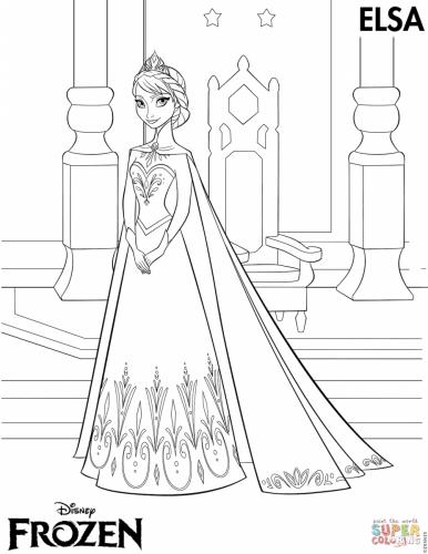 Elsa vestita da principessa per il ballo