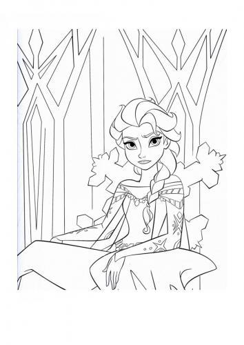 elsa sul trono