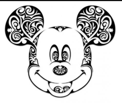 faccia di topolino da colorare