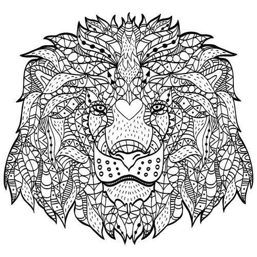 faccia leone da stampare