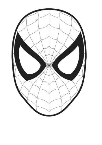 faccia spiderman da colorare
