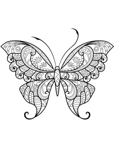 farfalla disegno stilizzato